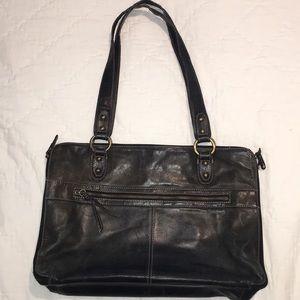 Tignanello Black Leather Briefcase